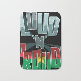 Burkina Faso Pride Loud N Proud Bath Mat