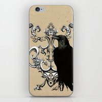 raven iPhone & iPod Skins featuring Raven by Кaterina Кalinich
