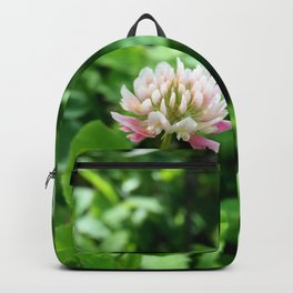 Pink and White Clover Backpack