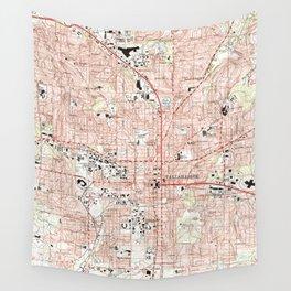 Tallahassee Florida Map (1999) Wall Tapestry