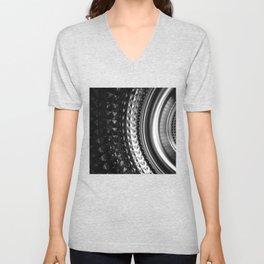 Shimmering textures of laundry machine drum -- Everyday art Unisex V-Neck