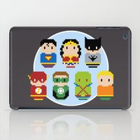 justice league iPad Cases featuring Pixel Art - Justice League of America parody by Cloudsfactory