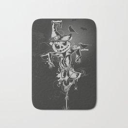 Halloween scarecrow Bath Mat