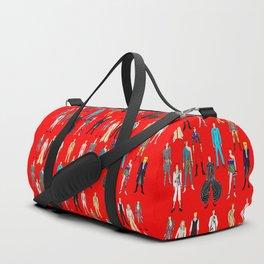 Starman on Red Duffle Bag