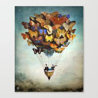 butterfly Canvas Prints featuring Fly Away by Christian Schloe