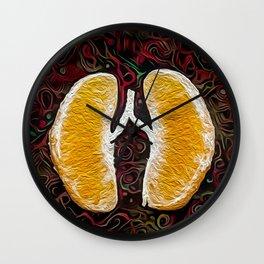 Orange revolve Wall Clock