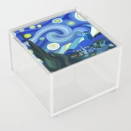 Tardis Art Starry Night Acrylic Box
