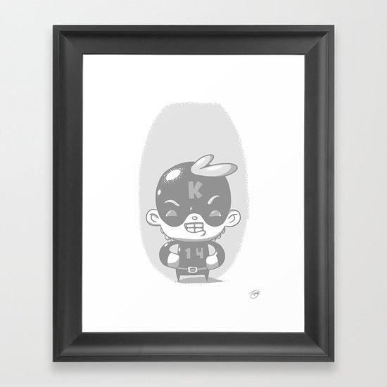 Kaptain 14: Whiteout Edition Framed Art Print