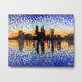 Perth City Sunrise Metal Print