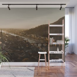 View of Heidelberg from above Wall Mural