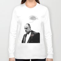 godfather Long Sleeve T-shirts featuring The Godfather by Printer's Devil