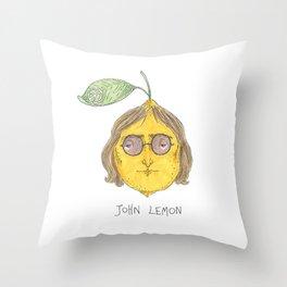 John Lemon Throw Pillow