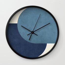Halfmoon Colorblock - Blue Wall Clock