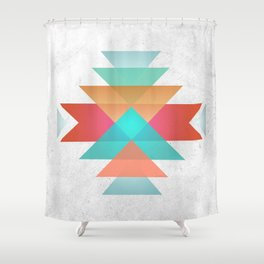 Geometric abstract indigenous symbol Shower Curtain
