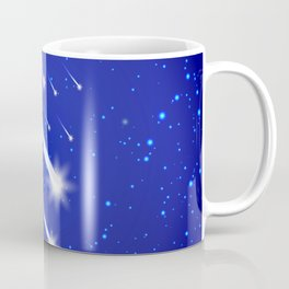 Space background with stars and comets Coffee Mug