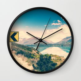 Lake Road Sign Wall Clock