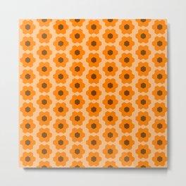Floral No. 2 -- Orange Metal Print