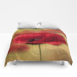 A Red Poppy Comforters