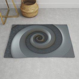 Gray 3-D Spiral Rug