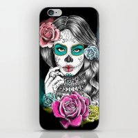 aaliyah iPhone & iPod Skins featuring Aaliyah - Day of the Dead by DejaLiyah