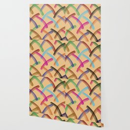 Colourful patterns Wallpaper