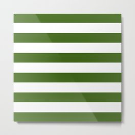 Simply Stripes in Jungle Green Metal Print