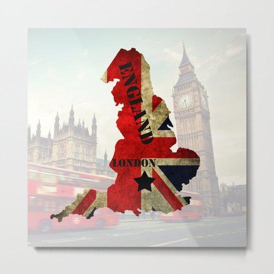 ENGLAND Metal Print