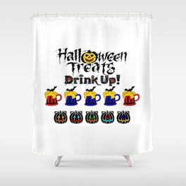 Halloween Special Beer Delivery Treats Shower Curtain