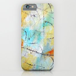 Feeling Lyrical Blue Yellow Abstract iPhone Case