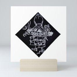 Kraken Octopus Sea Monster Sinking Ship Illustration Mini Art Print
