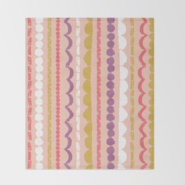 Butterfly Garden - Streamers Throw Blanket