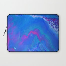 Fantasy II - Bright Sapphire Blue Ultra Violet Purple Fluid Abstract Laptop Sleeve
