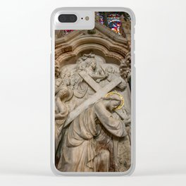 Cross of Calvary Clear iPhone Case