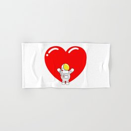 Astro Heart | Love is All Around | Astronaut Hug Love | pulps of Hand & Bath Towel