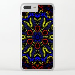 Primary Kaleidoscope Clear iPhone Case