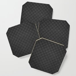 Black leather lattice pattern - By Brian Vegas Coaster