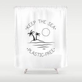 Keep the Sea Plastic-Free Shower Curtain