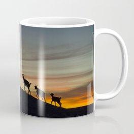 Africa sunset with goats Coffee Mug