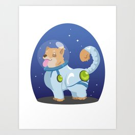 Corgis in Space Art Print