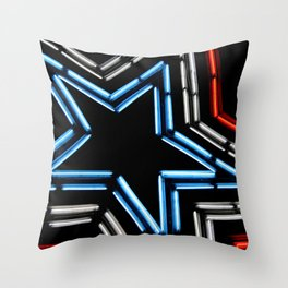 Neon Star Throw Pillow