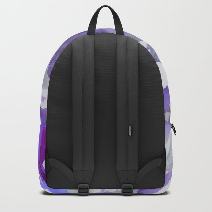 Purple Haze Painterly Floral Abstract Backpack