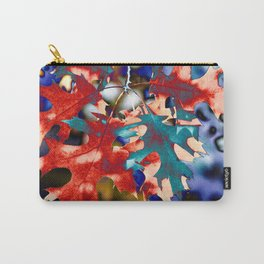 BRIGHT, ABSTRACT AUTUMN LEAVES Carry-All Pouch