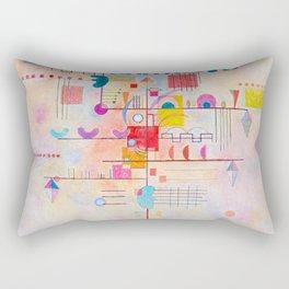 Wassily Kandinsky Gentle Ascent Rectangular Pillow