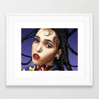 fka twigs Framed Art Prints featuring FKA Twigs by ☿ cactei ☿