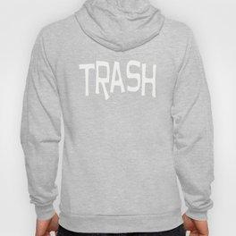 Trash print white Hoody