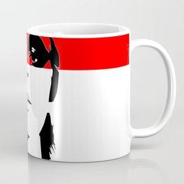 FEMBOT - Black, White and Red Female Pop Art Graphic Design Coffee Mug