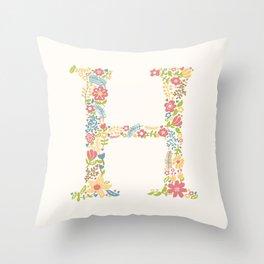 Alphabet H Throw Pillow