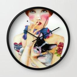Creepy dog Wall Clock