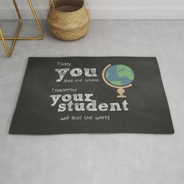 Lead the world | Teacher Appreciation Rug