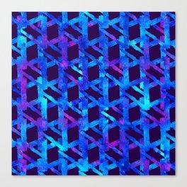 Cosmic blue watercolor bright print. Canvas Print